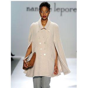 NWOT Nanette Lepore Cream Kiss A Lot Wool Cape S